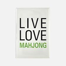 Live Love Mahjong Rectangle Magnet