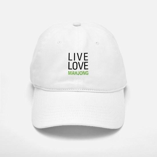 Live Love Mahjong Baseball Baseball Cap