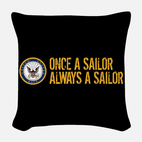 U.S. Navy: Once a Sailor, Alwa Woven Throw Pillow