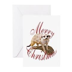 Meerkat Christmas Greeting Cards (Pk of 10)