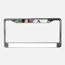 Bidau Peacock, Wisteria, Doves License Plate Frame