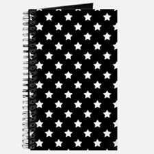 Black and White Stars Pattern Journal