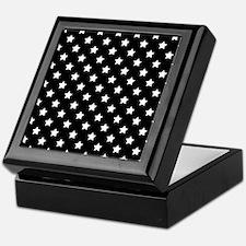 Black and White Stars Pattern Keepsake Box