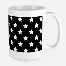 Black and White Stars Pattern Mugs
