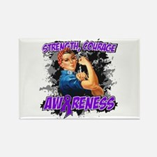 Lupus Rosie The Riveter Rectangle Magnet