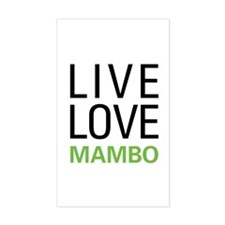 Live Love Mambo Rectangle Decal