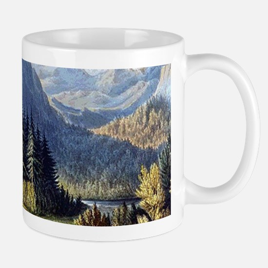 vintage native american landscape Mugs