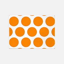 Orange: Polka Dots Pattern (Large) 5'x7'Area Rug