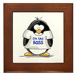 I'm the Boss Penguin Framed Tile