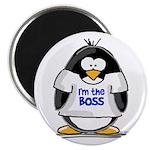 I'm the Boss Penguin Magnet
