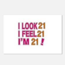 I Look 21 Postcards (Package of 8)