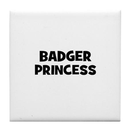 badger princess Tile Coaster