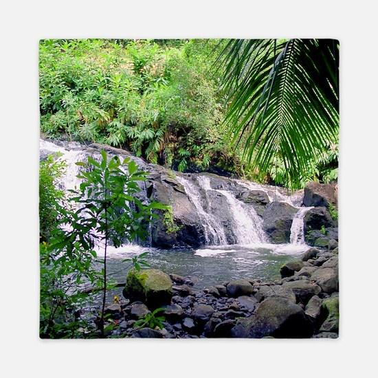 Hahalawe Falls Maui Queen Duvet