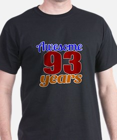 Awesome 93 Years Birthday T-Shirt