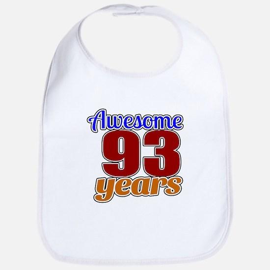 Awesome 93 Years Birthday Bib
