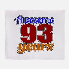 Awesome 93 Years Birthday Throw Blanket