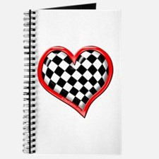 Checkered Heart Red Journal