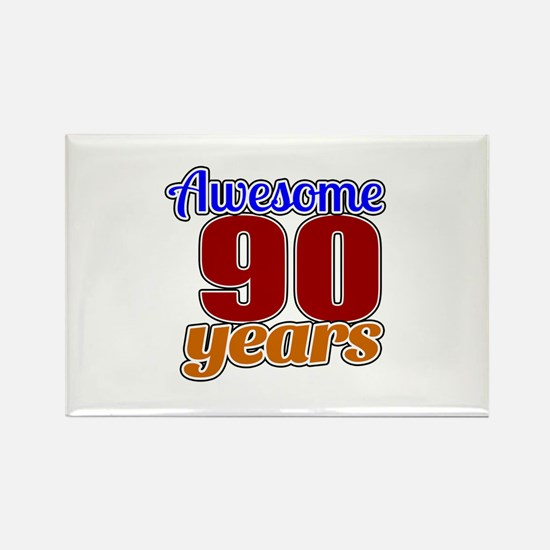 Awesome 90 Years Birthday Rectangle Magnet