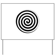 Hypnotic Spiral Yard Sign