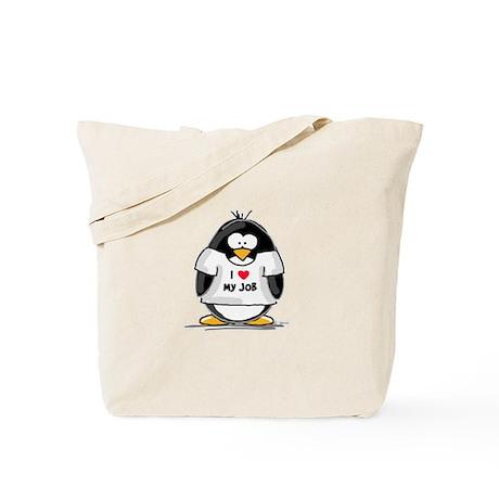 I Love My Job Penguin Tote Bag