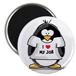 I Love My Job Penguin Magnet