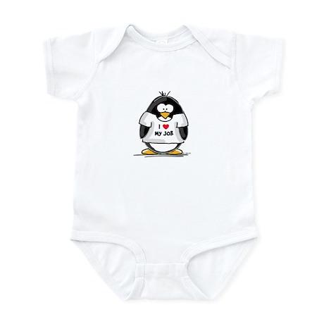 I Love My Job Penguin Infant Bodysuit