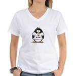 I Love My Job Penguin Women's V-Neck T-Shirt