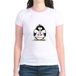 I Love My Job Penguin Jr. Ringer T-Shirt