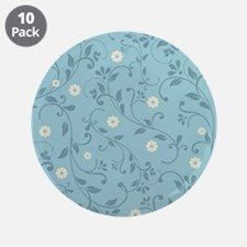 """Country Floral 3.5"""" Button (10 pack)"""