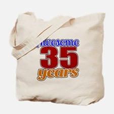 Awesome 35 Years Birthday Tote Bag
