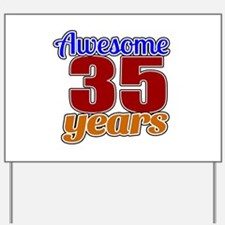 Awesome 35 Years Birthday Yard Sign