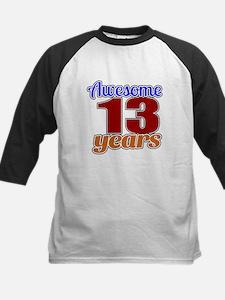 Awesome 13 Years Birthday Kids Baseball Jersey
