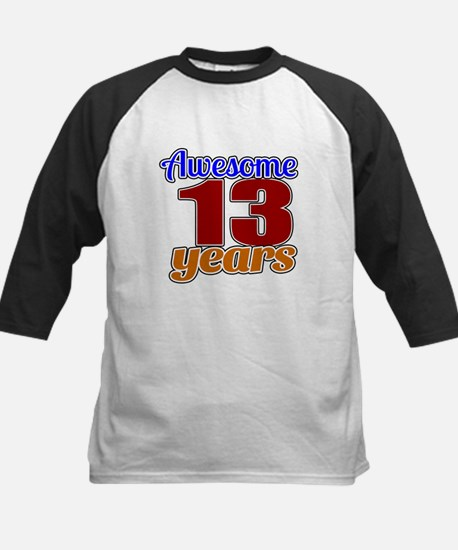 Awesome 13 Years Birthday Kids Baseball Jersey