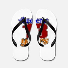 Awesome 13 Years Birthday Flip Flops