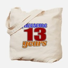 Awesome 13 Years Birthday Tote Bag