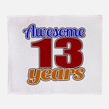 Awesome 13 Years Birthday Throw Blanket