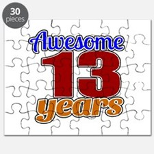 Awesome 13 Years Birthday Puzzle