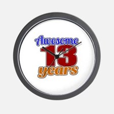 Awesome 13 Years Birthday Wall Clock