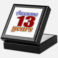 Awesome 13 Years Birthday Keepsake Box