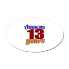 Awesome 13 Years Birthday Wall Decal