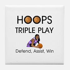 TOP Hoops Slogan Tile Coaster