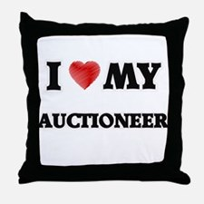 I love my Auctioneer Throw Pillow