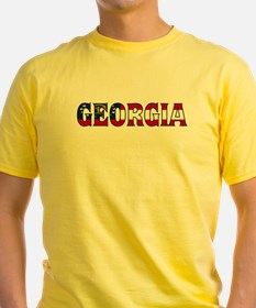 Georgia New Flag Ash Grey T-Shirt