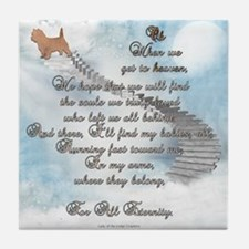 Doggie Heaven Tile Coaster