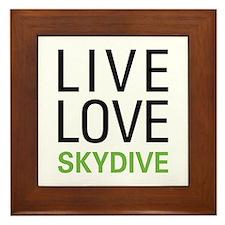 Live Love Skydive Framed Tile