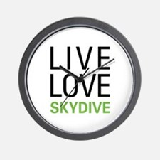 Live Love Skydive Wall Clock