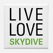 Live Love Skydive Tile Coaster