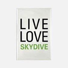 Live Love Skydive Rectangle Magnet