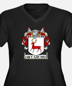 McCarthy Coat of Arms Women's Plus Size V-Neck Dar