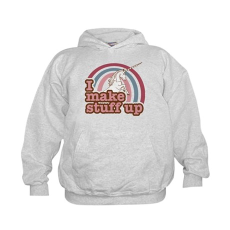 I make stuff up unicorn Kids Hoodie